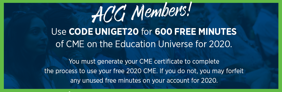 Get 600 Free Minutes of CME: Use code UNIGET20